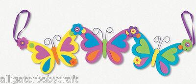 Spring Crafts For Kids (Spring Butterfly Garland Craft Kit for Kids Girls Decor 16.5