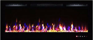 Fully recessed Linear Electric fireplace-36