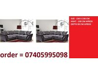free dlivery = large corner sofda set + all cushions == NO HIDDEN CHARGES pay on dlivery