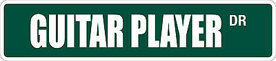 Player Street Sign - *Aluminum* Guitar Player 4