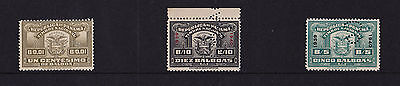 Panama (Revenues) - 1939-40 1c (Undated) + 5b + 10b - SEE NOTES