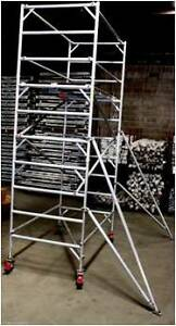 Big Sale On ! Double Width Aluminium Mobile Scaffold with 4m Dandenong South Greater Dandenong Preview
