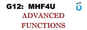 G12 ADVANCED FUNCTION MHF4U MATH Credit Course TUTORING