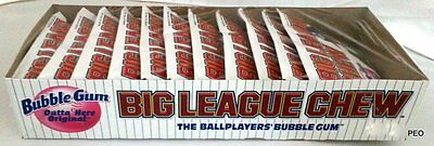 Big League Chew Original Flavor Free Ship Bubble Gum Candy Candies Baseball Bulk