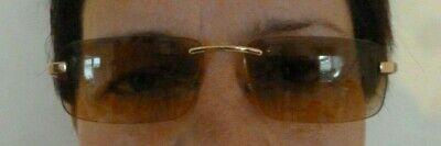 GEORG JENSEN Sonnenbrille braun gold Damen Brille skandinavisch Designer randlos