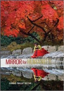 Anthropology book for sale. Mirror for Humanity 9th edition