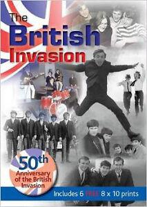 British Invasion Book with 6 bonus 8 x 10 prints in folder