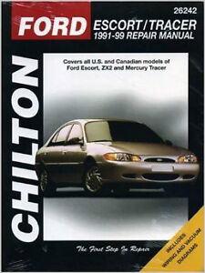 Chilton manual for Ford escort and tracer  1991 to 99