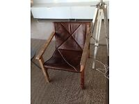French Connection - Leather Sling Back Chair