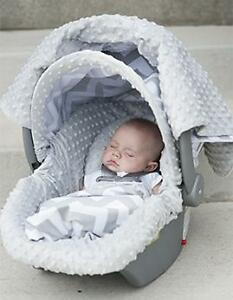 Brand NEW! Neutral Gray Whole Carseat Canopy & Caboodle
