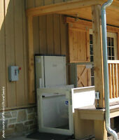Used Porch lift for sale. Spring is here! J.M.R.J. Services