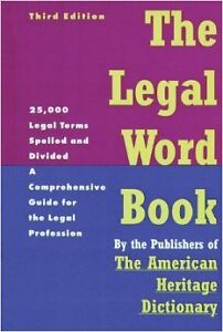 Legal Word Hardcover Book + much more stuff-Lot $5