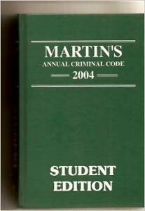 Martin's Annual Criminal Code 2004 Hardcover textbook London Ontario image 1