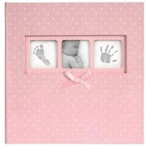 Baby Girl Polka Dot 6 x 4 Pink Photo Album Holds 200