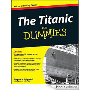 The Titanic For Dummies-Excellent condition