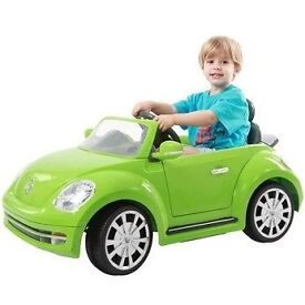 Vw beetle hardly used green 6v battery powered kids car