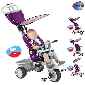 Tricycle 5-en-1 Recliner de Smart Trike pour filles