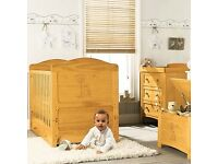Winnie the Pooh Cot Bed and Matching Chest of Drawers