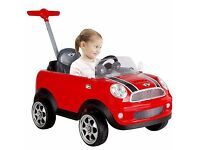Kids Red Mini Cooper Push Along Buggy Car EXCELLENT COND - Collect Stockport
