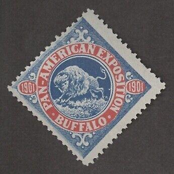 1901 Pan American Exposition BC12 M NH Running Buffalo Cinderella Stamp! Am Expo