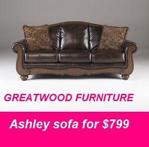 BRAND NEW ASHLEY FURNITURE TRADITIONAL SOFA..$799