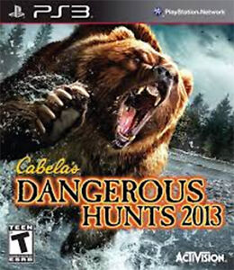 PS3 - Cabela's DANGEROUS HUNTS 2013 - Play Station 3 game.
