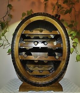 Elegant Oval Shape 14 Bottles Wine Rack
