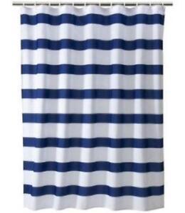 Blue Stripe Shower CurtainBlue Shower Curtain   eBay. Blue And Yellow Shower Curtain. Home Design Ideas