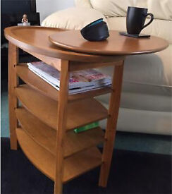 Side Table /Swivel Top Coffee Table Light Oak