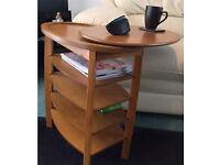 Side Table /Swivel Top Coffee Table Light Oak