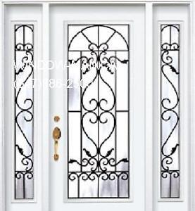 TwoSideLights Door Front Entry   modern or traditional Design