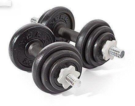 York 20kg Cast Iron Dumbells