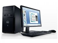 "Dell Vostro pc with Windows 7, 19"" Philips Monitor, Keyboard, mouse, wi-fi ,Microsoft office 2013"