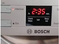 Bosch Stainless Steel Silver Dishwasher with display. 1 year old, Excellent condition. Can deliver