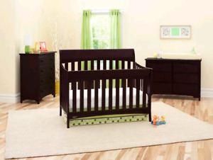 3 in 1 Crib, baby bed and full bed
