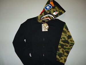 bape-sleeve-1st-camo-black-green-shark-hoody-M-ape