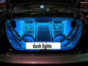 new mini blue neon car interior angel eyes halo wire rings led spot lights bulbs ebay. Black Bedroom Furniture Sets. Home Design Ideas