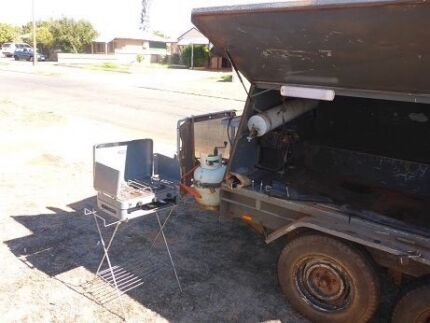 8 by 5 tradesman trailer converted to camper trailer