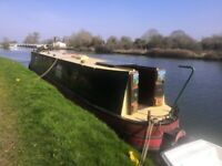 Boat. Narrow Boat. canal boat NARROWBOAT. TRAD STERN. 47 FOOT. BSS TO 2023. ON GLOS AND SHARP CANAL.