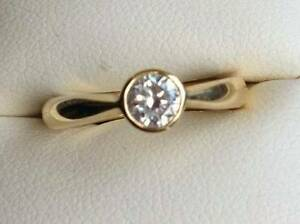 18ct 0.48 carat Diamond ring VSI Valuation Incl $3085 Gymea Bay Sutherland Area Preview