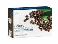 Unicity Bioreishi Coffee 3 in 1 instant coffee drink, 20 packets