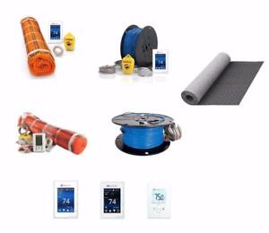 SunTouch WarmWire Radiant Floor Heat Kit Wholesale Prices - Cable Thermostat , TapeMat , HeatMatrix  Uncoupling Membrane