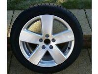 "Genuine 02-2012 Volkswagen audi skoda seat 5x112 R-line 17"" alloy"