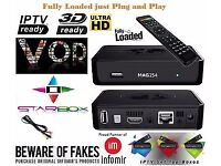 ✮254 HD OTT IPTV RCEIVER✮NO SAT DISH NEEDED+12 MTHS-SMART TV/OPENBOX/ZGEMMA-BRAND NEW / SEALED