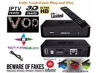 ☆MAG 254 W1 New Model☆SET-TOP-BOX with☆150Mbps built-in WiFi☆by INFOMIR + 1MTH TEST / OPENBOX