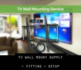 TV WALL MOUNTING SUPPLY + FITTING