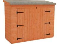 Shed / Bike Store 7' x 5' (12mm Shiplap T&G) brand new, never built purchased last summer for £285.