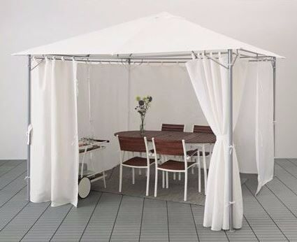 gazebo with curtains karls white from ikea in clapham london gumtree. Black Bedroom Furniture Sets. Home Design Ideas
