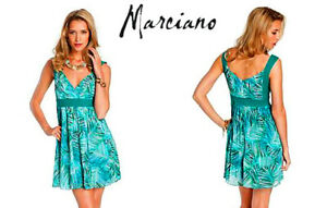 Summer Dress Baby Doll Palm Print Chiffon From MARCIANO.