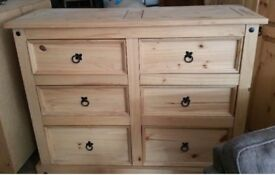 Corona 6 Drawer Wide Chest of Drawers
